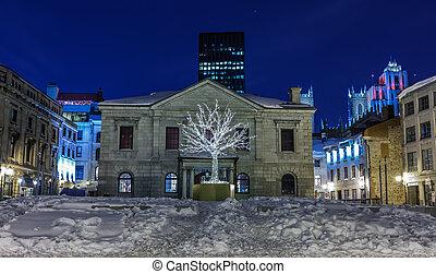 古いモントリオール, 夜