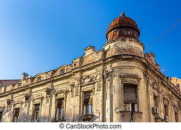 古い建物, 都市で, 中心, の, ベオグラード, -, セルビア