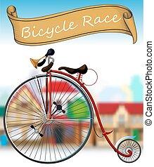 古い自転車, レース