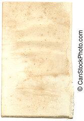古い骨董品, ノート, ペーパー, パッド, レトロ, 背景, ブランク, ∥あるいは∥