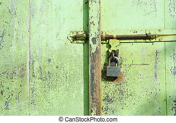 古い骨董品, 型, 錠を開けること, キー, ドア, 割れた, ∥あるいは∥
