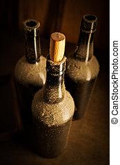 古い, びん, 3, ワイン