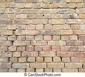 古い, れんがの壁, 背景