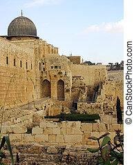 古い, イスラエル, –, エルサレム, 12月, 都市