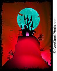 古い, イメージ, ハロウィーン, eps, 8, mansion.
