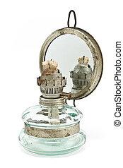 古い, オイルランプ, ∥で∥, 鏡