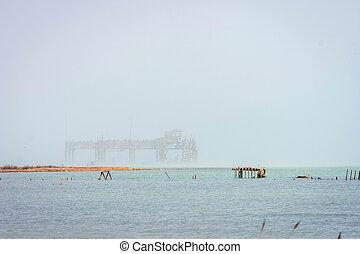 古い, オイル, caspian 海, 用具一式