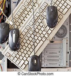 古い, コンピュータ, そして, コンピュータ, 付属品, ∥ために∥, 電子, リサイクル