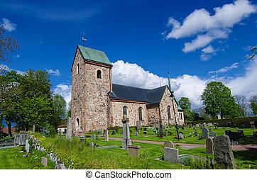 古い, スウェーデン, 教会