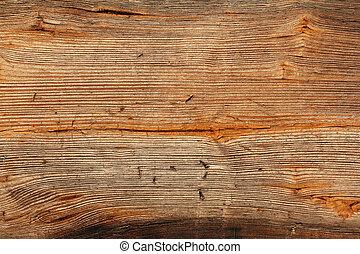 古い, ステープル, 木製である, 穴, 板, 左