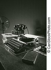 古い, タイプライター, 中に, a, オフィス
