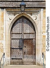 古い, ドア, 中世