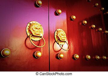 古い, ドア, 中国語