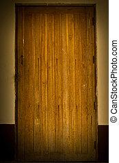 古い, ドア, 背景