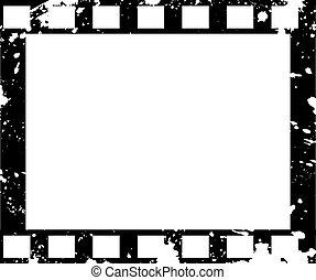 古い, フィルム, フレーム, 中に, グランジ, スタイル