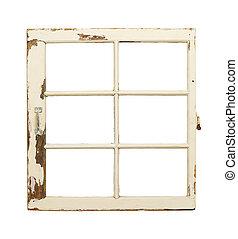古い, フランス語, 窓ガラス, 窓