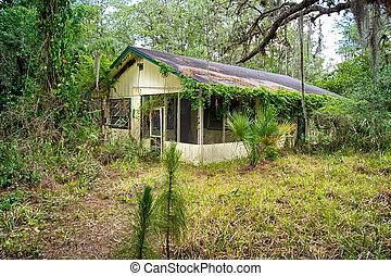 古い, フロリダ, 捨てられた, 家