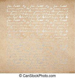 古い, ペーパー, 手紙, インク, 手書き, 銀
