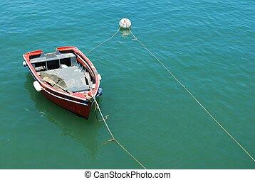 古い, ポルトガル, cascais, 釣り, 港, ボート