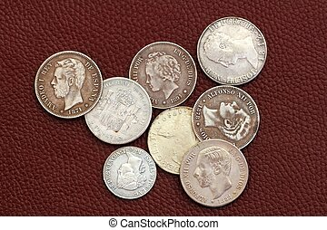 古い, 世紀, コイン, 18番目, 19番目, スペイン
