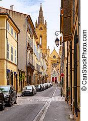 古い, 中世, st. 。, aix-en-provence., 教会, ジーン, maltese.