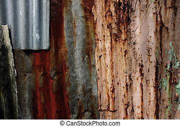 古い, 亜鉛, 背景