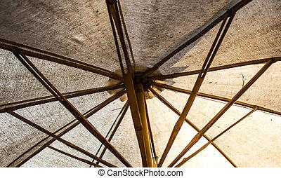 古い, 伝統的である, 傘, タイ, エステ, 竹