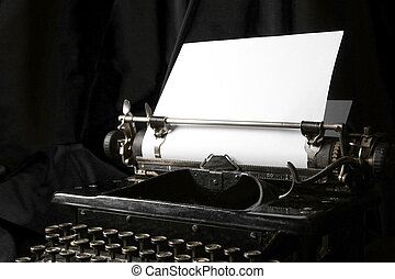 古い, 作家, ペーパー, 白紙, タイプ