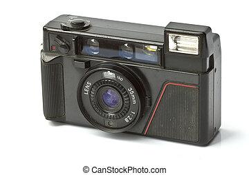 古い, 写真, 隔離された, カメラ, 背景, 白