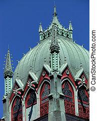 古い, 南, 教会, タワー