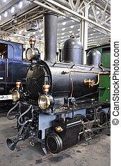 古い, 博物館, 列車, ルツェルン, スイス, 輸送