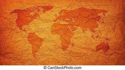 古い, 型, 世界地図