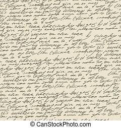 古い, 型, 抽象的, eps10., seamless, パターン, ベクトル, 手書き, paper.
