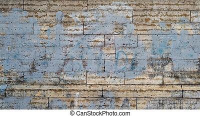 古い, 型, wall., バックグラウンド。, グランジ, れんが, すてきである