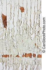 古い, 型, wood., ペンキ, 裸, 手ざわり