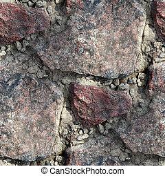 古い, 壁, seamless, 手ざわり, 背景, 花こう岩
