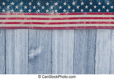 古い, 外気に当って変化した, usaフラグ, 木, 背景, 愛国心が強い