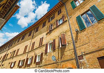 古い, 建物, 中に, イタリア