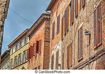 古い, 建物, 中に, siena