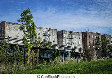 古い, 建物, bronx