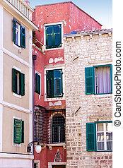古い, 建物, croatia, 都市