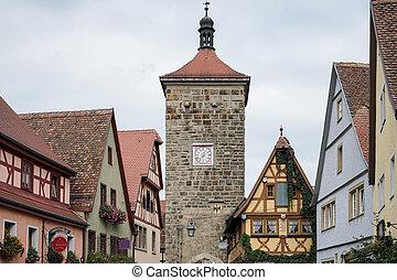 古い, 建物, rothenburg