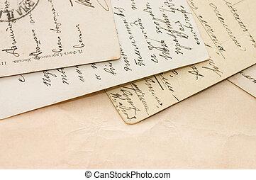 古い, 手紙, 背景