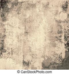 古い, 抽象的, 手ざわり, デリケートである, 背景, グランジ