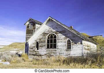 古い, 捨てられた, 国教会, アルバータ, dorothy, canada.