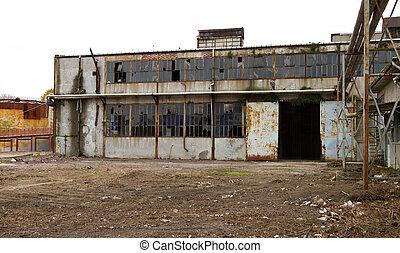 古い, 捨てられた, 工場