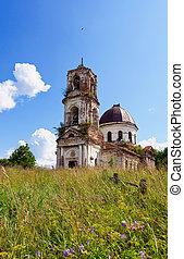 古い, 捨てられた, novgorod, 地域, 教会, ロシア