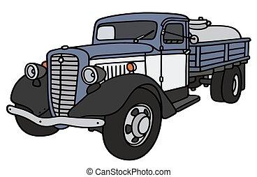 古い, 搾乳場, トラック, タンク