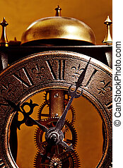 古い, 時計, 終わり, 光景