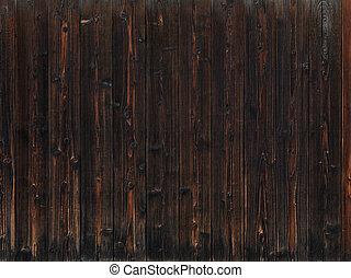 古い, 暗い, 木手ざわり, 背景